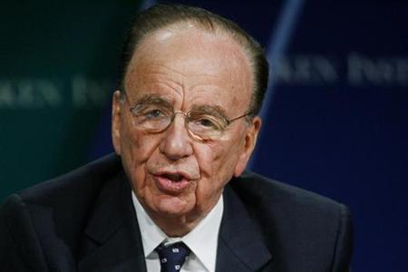 A file photo of Rupert Murdoch, chairman and CEO of News Corporation, taking part in the ''Global Overview'' panel discussion during the 10th Milken Institute Global Conference in Beverly Hills, California April 24, 2007. Murdoch said on Wednesday he had no plan to raise his bid for media group Dow Jones & Co. Inc. and expected a final approval from the Bancroft family, which controls the company, within two to three weeks, ''if at all.'' REUTERS/Fred Prouse