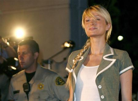 Paris Hilton leaves the Los Angeles County Correctional Facility in Lynwood, California, June 26, 2007. REUTERS/Max Morse