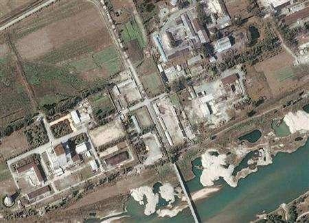 A DigitalGlobe satellite image shows a nuclear facility in Yongbyon, North Korea September 29, 2004. North Korea has told the United States it has shut down a nuclear reactor as part of a disarmament deal, the U.S. State Department said on Saturday after a team of U.N. nuclear inspectors arrived in Pyongyang. REUTERS/Digital Globe