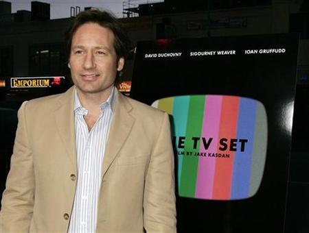 ''X-Files'' actor David Duchovny who also stars in the film ''The TV Set'', poses at the premiere of ''The TV Set'' in Los Angeles in this file photo from March 27, 2007. REUTERS/Fred Prouser