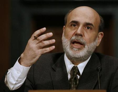 U.S. Federal Reserve Chairman Ben Bernanke speaks at a Senate Banking, Housing and Urban Affairs committee hearing in Washington in this July 19, 2007 file photo. Bernanke has waded into the controversial debate about growing income inequality in the United States. REUTERS/Jason Reed