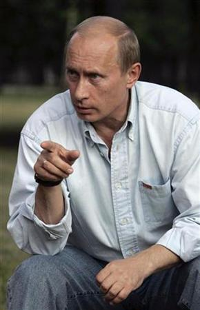 In this file picture, Russia's President Vladimir Putin speaks during his meeting with representatives of youth movements at the presidential country residence in Zavidovo, 120 km (75 miles) north-west of Moscow, July 24, 2007. Russia needs to build up its armed forces and intelligence potential in the face of new security threats including U.S. military plans in Europe, President Vladimir Putin told his top brass on Wednesday. REUTERS/Ria Novosti/Kremlin