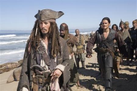 A scene from ''Pirates of the Caribbean: Dead Man's Chest'' in an undated image. Walt Disney on Wednesday became the first major Hollywood studio to ban depictions of smoking, saying there would be no smoking in its family-oriented, Disney-branded films. REUTERS/Handout