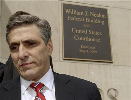 Hazleton, Pennsylvania Mayor Lou Barletta walks into the William J. Nealon Federal Building and U.S. Courthouse in Scranton, Pennsylvania, March 12, 2007. A federal judge on Thursday struck down as ''unconstitutional'' a local law designed to crack down on illegal immigration, dealing a blow to similar laws passed by dozens of towns and cities across the United States. REUTERS/Bradley C Bower