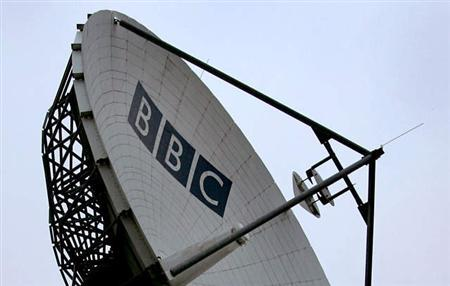 Billed as the biggest change in the way viewers watch television in 40 years, the BBC launched an online service on Friday that allows people to download many programs from the last week. A BBC satellite dish is seen in this undated file photo. REUTERS/file