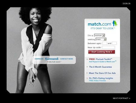 A screen grab of Match.com. Online dating service Match.com is launching a new application for cell phones, allowing subscribers to keep track of their paramours while on the go. REUTERS/www.match.com