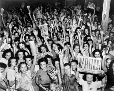 Workers celebrate the end of World War II in a handout photo from the Oak Ridge Convention and Visitors Bureau. REUTERS/Oak Ridge Convention and Visitors Bureau/Ed Wescott/handout