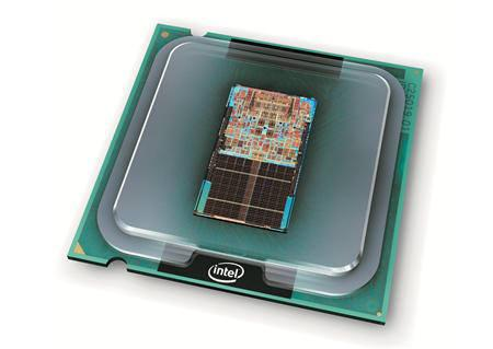 An undated illustration of an Intel Core 2 Duo processor. Symantec Corp and Intel Corp are jointly developing security products that could be built into tiny computer microprocessors, Symantec Vice President Rowan Trollope said on Tuesday. REUTERS/Intel Corporation/Handout