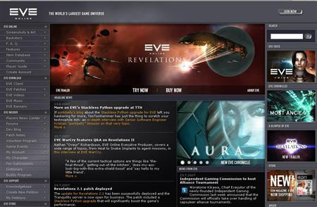 A screengrab of http://www.eve-online.com is seen August 16, 2007. Eyjolfur Guodmundsson was appointed chief economist for CCP Games, which hired him in June to quantify the wheelings and dealings of Eve Online's denizens, which number about 200,000 players. REUTERS/ Screengrab/ http://www.eve-online.com