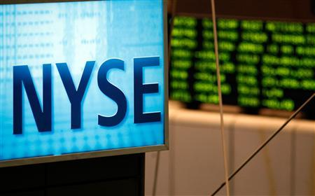 A sign over the floor of the at the New York Stock Exchange August 16, 2007. REUTERS/Brendan McDermid
