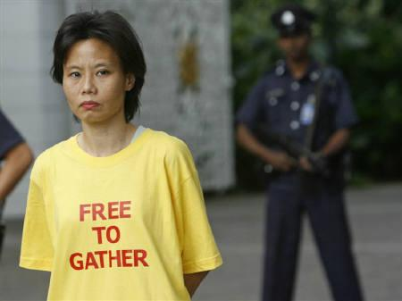 File photo of Chee Siok Chin, sister of Singapore opposition politician and leader of the Singapore Democratic Party (SDP) Chee Soon Juan, in Singapore. REUTERS/Vivek Prakash