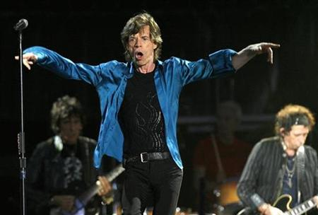Rolling Stones perform in Lausanne August 11, 2007. London-based 7digital has become the first digital media delivery company to make EMI's Rolling Stones catalog available on MP3 with no digital rights management (DRM) restrictions.REUTERS/Denis Balibouse