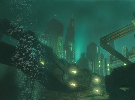 A screenshot from the game ''Bioshock'' in an image courtesy of Take-Two Interactive Software. The creepy, underwater shooter game which refused to sink when publishers balked at its high development costs has turned into a success story, with ''BioShock'' getting glowing reviews and top sales. REUTERS/Handout