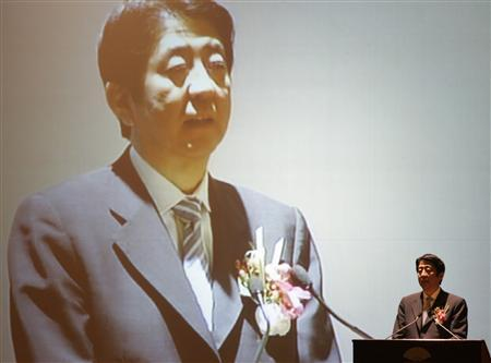 Japan's Prime Minister Shinzo Abe addresses a business forum in Kuala Lumpur August 24, 2007. REUTERS/Zainal Abd Halim
