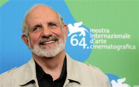 U.S. director Brian De Palma attends a photocall in Venice August 31, 2007. U.S actors Robert Devaney and Patrick Carroll star in director De Palma's movie ''Redacted'', which is being shown at the Venice Film Festival. REUTERS/Alessandro Bianchi