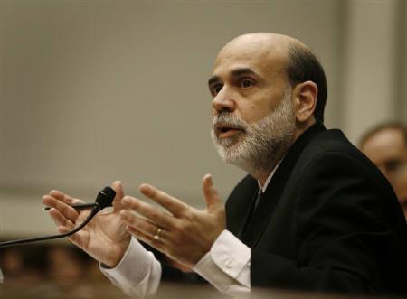 8月31日、米連邦準備理事会(FRB)のバーナンキ議長、金融市場の混乱が経済へ影響を与えないよう必要な措置を講じるとの姿勢を示す。7月撮影(2007年 ロイター/Jason Reed)