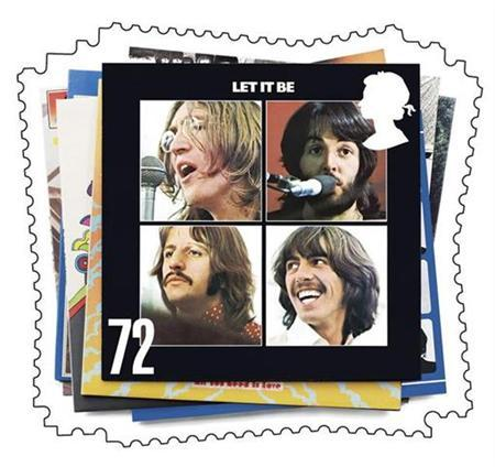 ''Let It Be,'' one of the six Beatles album covers which will appear on the first set of special stamps to be issued on January 9, 2007, is seen in this handout picture released by Britain's Royal Mail December 28, 2006. The Beatles' second feature film,''Help!'' -- once described by John Lennon as ''crap'' -- will come out on DVD in October, representatives for the Fab Four said on Tuesday. REUTERS/Royal Mail/Handout