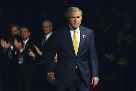 President George W. Bush arrives on day two of the Asia-Pacific Economic Cooperation (APEC) Business Summit at the Sydney Opera House September 7, 2007. REUTERS/APEC2007 taskforce/Handout