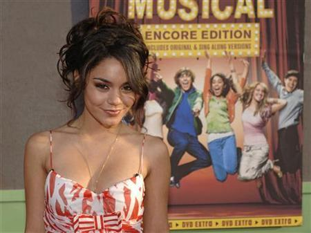 Cast member Vanessa Anne Hudgens arrives for a screening of ''High School Musical'' at the El Capitan Theatre in Hollywood May 13, 2006. A newly posted nude photo of the wholesome ''High School Musical'' star Hudgens has caused an Internet stir and raised a new publicity challenge for the Walt Disney Co.'s squeaky-clean flagship cable network. REUTERS/Phil McCarten
