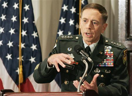 U.S. Army General David Petraeus, the top commander of U.S. forces in Iraq, speaks to reporters during a news conference on his report of progress in Iraq, in Washington September 12, 2007. An ad criticizing the top U.S. general in Iraq raised charges on Thursday that The New York Times slashed its advertising rates for political reasons -- an accusation denied by the paper. REUTERS/Molly Riley