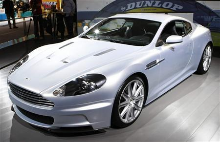 The new Aston Martin DBS is seen at the Frankfurt International Auto Show IAA in Frankfurt September 11, 2007. Aston Martin nudged out Apple's iPod music player and video Web site YouTube in the 2007 list of the top 500 coolest brands in Britain from consulting firm Coolbrands. REUTERS/Wolfgang Rattay