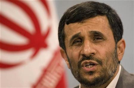 Iranian President Mahmoud Ahmadinejad during a news conference in Tehran, August 28, 2007. Columbia University was urged on Thursday to withdraw a speaking invitation to Ahmadinejad, who will be in New York for the United Nations General Assembly.REUTERS/Caren Firouz