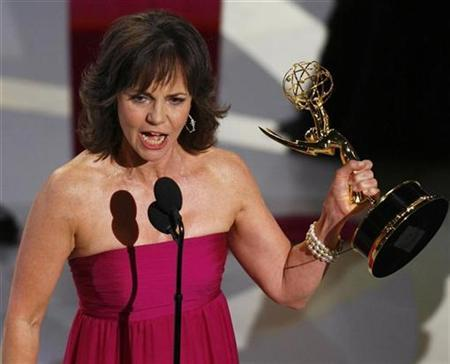 Sally Field accepts the award for Outstanding Lead Actress in a Drama Series for her role in ''Brothers and Sisters'' during the 59th Primetime Emmy Awards in Los Angeles, September 16, 2007. Field is attached to play Mary Todd Lincoln in Steven Spielberg's long-gestating biopic ''Lincoln.'' The troubled Mrs. Lincoln bore the president four sons, only two of whom survived into adulthood. REUTERS/ Mike Blake