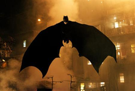 A scene from the 2005 film ''Batman Begins'' in an image courtesy of Warner Bros. A special effects technician involved in the filming of the new Batman movie has died in a car accident, the film's producers said on Tuesday. REUTERS/Handout