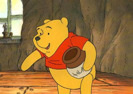 Winnie the Pooh in an undated image courtesy of the Walt Disney Co. A California appeals court on Tuesday declined to reinstate a long-running case against the Disney over royalties it paid for its popular Winnie the Pooh character. REUTERS/Handout