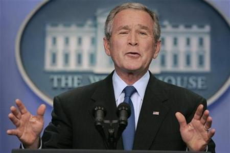 U.S. President George W. Bush holds a news conference in the Brady Press Briefing Room of the White House in Washington, September 20, 2007. REUTERS/Larry Downing