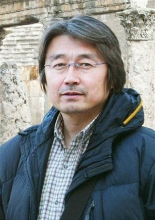 Japanese video journalist Kenji Nagai, is seen in this handout photo taken in April, 2003 in Amman, Jordan. REUTERS/Handout via Kyodo