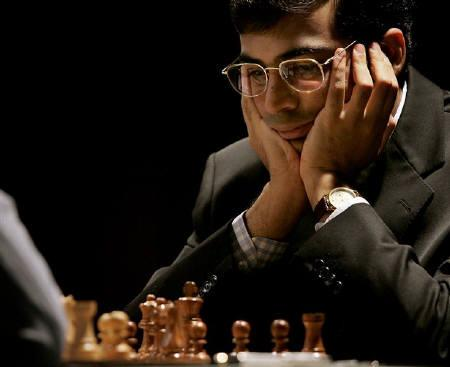 File photo of chess Grand Master Viswanathan Anand during a chess tournament in Sofia. Anand regained the world title after seven years with an unbeaten run in the tournament held in Mexico City, organisers said on Sunday. REUTERS/Stoyan Nenov/Files