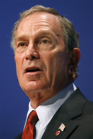 Mayor of New York Michael Bloomberg delivers a speech during the first day of the British Conservative Party's annual conference in Blackpool, September 30, 2007.REUTERS/Toby Melville