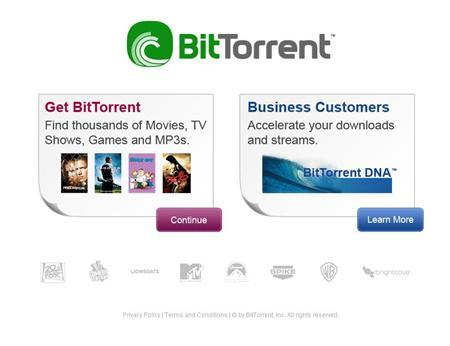A screen grab of BitTorrent.com. BitTorrent Inc., which was co-founded by the developer of a software program widely used to share pirated music and video over the Web, plans to start helping media companies stream videos over the Internet. REUTERS/www.bittorrent.com
