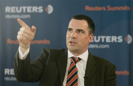 Kai Stukenbrock, Associate Director of Standard & Poor's, gestures during the Reuters Central European Investment Summit in Vienna October 15, 2007. REUTERS/Herwig Prammer (AUSTRIA)