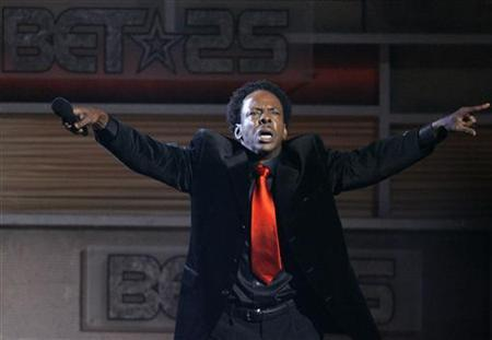 Bobby Brown performs in Los Angeles on October 26, 2005. The R&B singer is one of several celebrities set to compete in a new CMT series designed to give one of them a chance to break out as the next big country music star. REUTERS/Mario Anzuoni