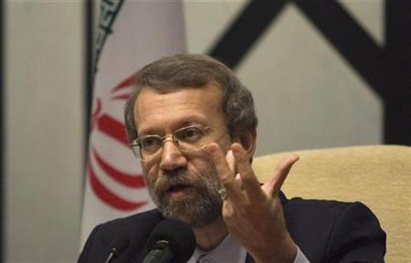 Iran's chief nuclear negotiator Ali Larijani speaks with journalists at a news conference in Tehran September 12, 2007. Larijani resigned on Saturday. REUTERS/Caren Firouz