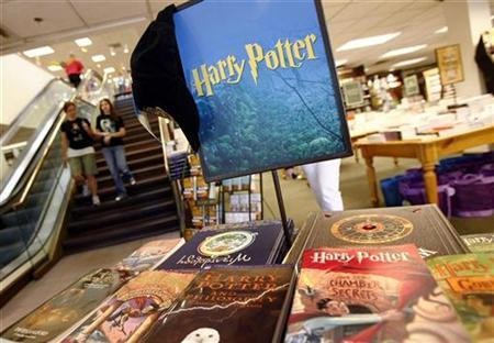 Harry Potter novels sit on display at the Barnes & Noble bookstore before the midnight release of ''Harry Potter and the Deathly Hallows'' by J.K. Rowling in Manhasset, New York July 20, 2007. REUTERS/Shannon Stapleton