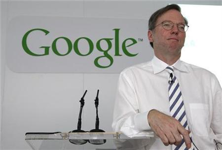 Google chairman and CEO Eric Schmidt attends a news conference in Paris June 19, 2007. Schmidt said on Wednesday his company's multiyear deal with online social network leader MySpace is performing better than originally planned. REUTERS/Philippe Wojazer