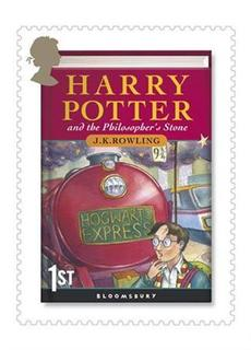 A Harry Potter postage stamp is seen in this an undated handout photograph, made available in London, July 15, 2007. A copy of the first trade edition of ''Harry Potter and the Philosopher's Stone'', the first book in the seven-volume series, fetched 19,700 pounds ($40,000) at auction on Thursday, Christie's said. REUTERS/Royal Mail/Handout.