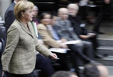 German Chancellor Angela Merkel at the Bundestag in Berlin, October 26, 2007. REUTERS/Hannibal Hanschke