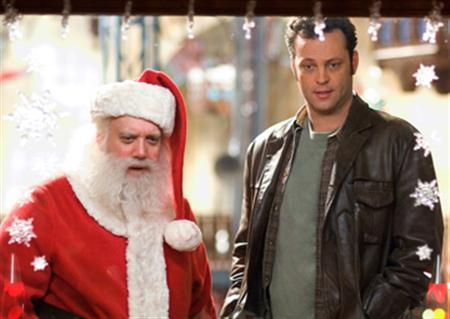 Paul Giamatti and Vince Vaughn in a scene from ''Fred Claus'' in an image courtesy of Warner Bros. Pictures. REUTERS/Handout