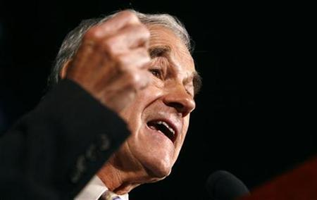 Republican presidential candidate Rep. Ron Paul (R-TX) speaks at the Americans for Prosperity Foundation's ''Defending the American Dream'' Summit in Washington, October 5, 2007. REUTERS/Jim Young