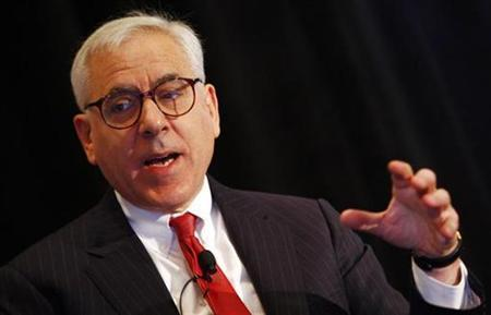 David Rubenstein, Co-Founder and Managing Director of The Carlyle Group, speaks at the ''M&A Outlook 2008'' conference in New York November 7, 2007. The leveraged buyout of top nursing home operator Manor Care Inc faces a major hurdle as Wall Street dealers struggle to sell bonds in the $850 billion commercial mortgage bond market. On Wednesday, Rubenstein told Reuters: ''There are a couple of regulatory approvals that are in the process of being obtained. The deal will close in the near future, in my view.'' REUTERS/Mike Segar