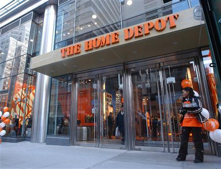 The Home Depot on 59th Street in Manhattan in a photo courtesy of the company. Home Depot posted a 27 percent drop in quarterly profit and forecast a steeper fall in full-year earnings on Tuesday as the slumping U.S. housing market cut into sales. REUTERS/Handout