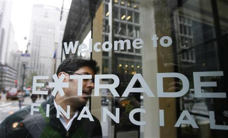 A customer enters the E*Trade offices in New York, November 12, 2007. REUTERS/Lucas Jackson
