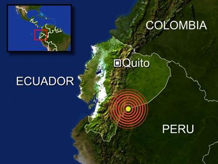A 6.7-magnitude earthquake struck along the border between Peru and Ecuador on Thursday night, but there were no immediate reports of injuries or damage. REUTERS/Graphics