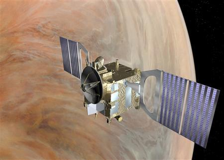 This is an artist's impression of Venus provided by the European Space Agency. Lightning crackles in the atmosphere of Earth's ''evil twin'' Venus, while the meager remnants of suspected bygone oceans continue to be whipped off the planet and lost to space, scientists said on Wednesday. REUTERS/European Space Agency/handout