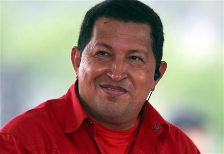 Venezuelan President Hugo Chavez attends a campaign rally in the Andean state of Tachira November 28, 2007. Chavez said he expects to win Sunday's constitutional reform referendum on scrapping term limits by 10 percentage points, but said his opponents will cry fraud and promote violence if they lose. REUTERS/Ho-Miraflores Palace
