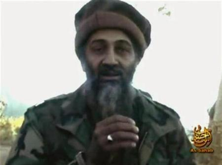 A video grab from an undated footage obtained in July 2007 shows al Qaeda leader Osama bin Laden making statements from an unknown location. Al Jazeera television said on Thursday it would air a new audio tape of the al Qaeda leader. REUTERS/REUTERS TV